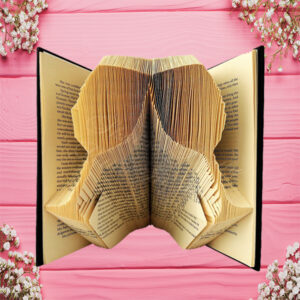 Champagne Glasses Celebration Folded Book Art