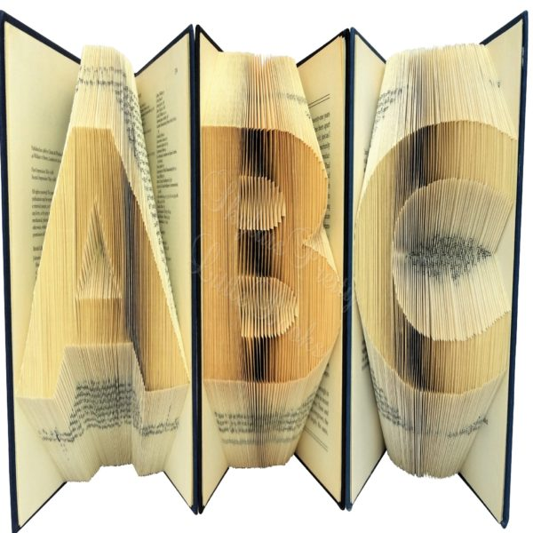 Chunkies Folded Book Art - ABC