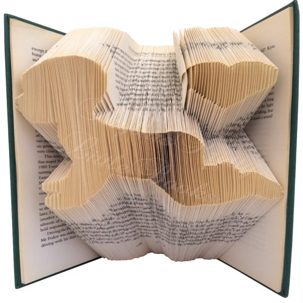 Crawling Baby Folded Book Art