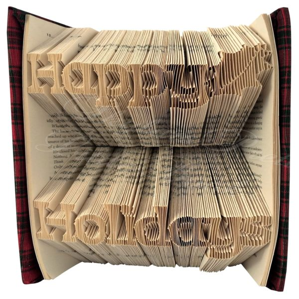 Happy Holidays Festive Folded Book Art