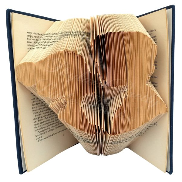Lovers Kiss Folded Book Art