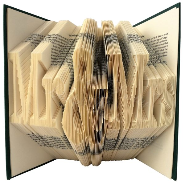 Mr & Mrs Celebration Folded Book Art - Version 1