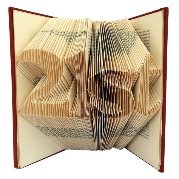 Personalised Age Folded Book Art - Version 2