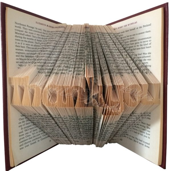 Thank You Folded Book Art
