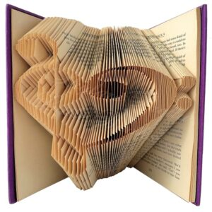 Treble Clef Heart Music Folded Book Art