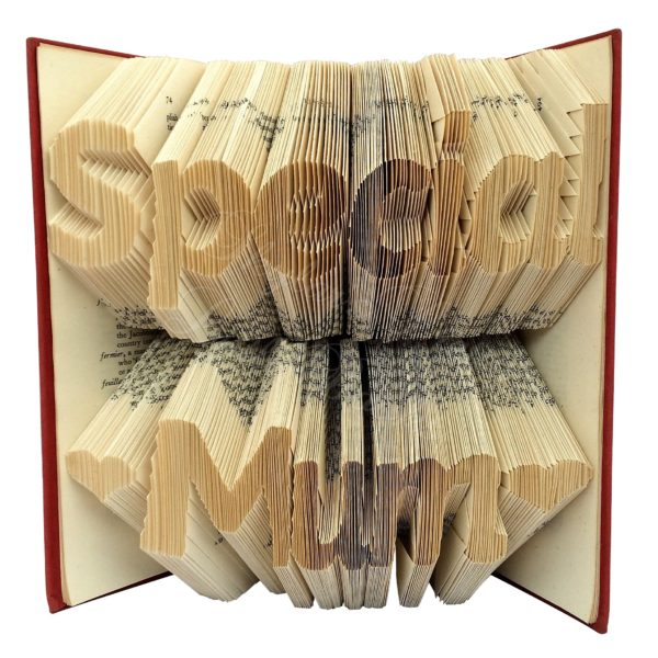 Special Mum Family Book Folding Folded Book Art